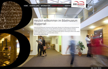 Screenshot Website Bibelmuseum Wuppertal