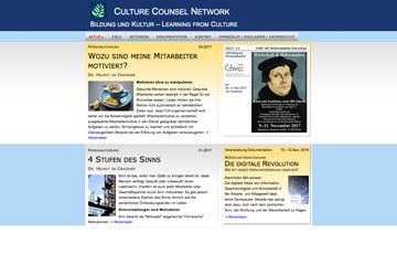 Screenshot Website culture-counsel