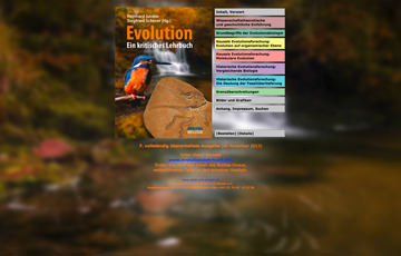 Screenshot Website Evolutionslehrbuch