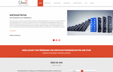 Screenshot Website GWE