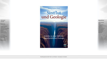 Screenshot Website Sintflut und Geologie
