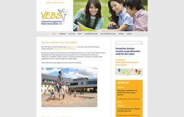 Screenshot Website VEBS