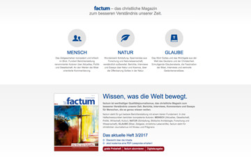 Screenshot Website factum-magazin