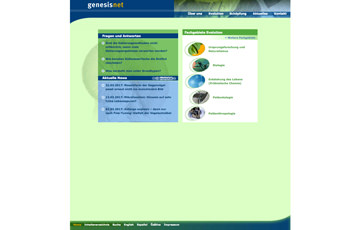Screenshot Website genesisnet